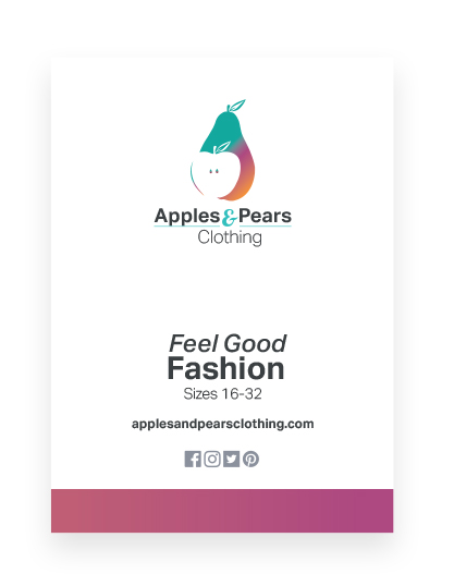 Pop up trade banner designed for Apples & Pears Clothing