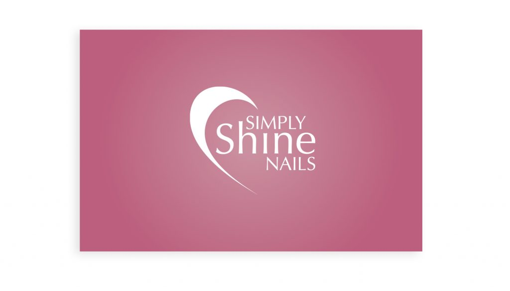 Simply Shine Nails logo and marketing material, designed by Sarah Edwards Design